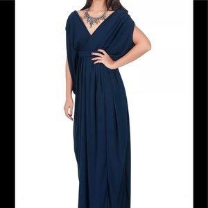 KohKoh Women's Blue Grecian Maxi Dress Sz 1X